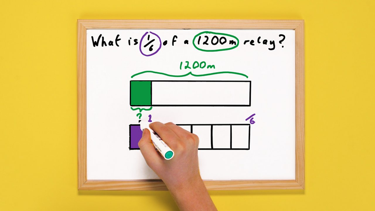 Whiteboard with two bar models