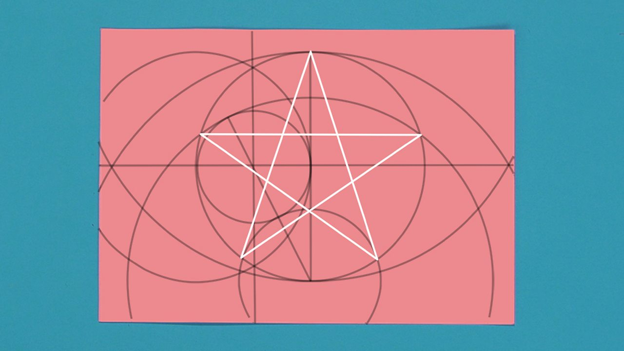 An image showing how to join the points to make the perfect five pointed star