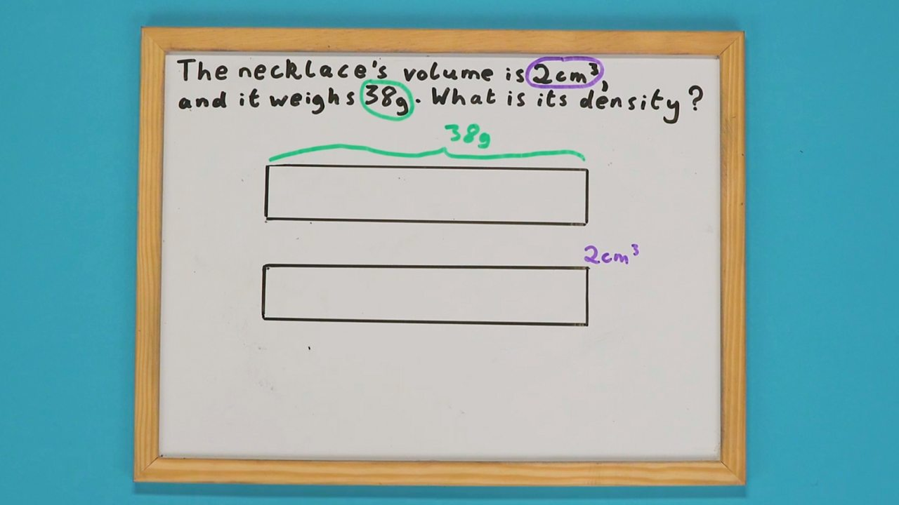 A whiteboard with two bars drawn on it