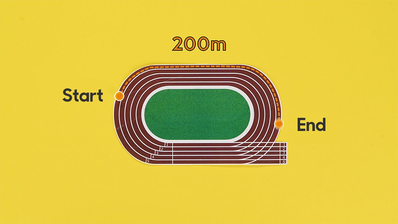 1/6 shown on the running track