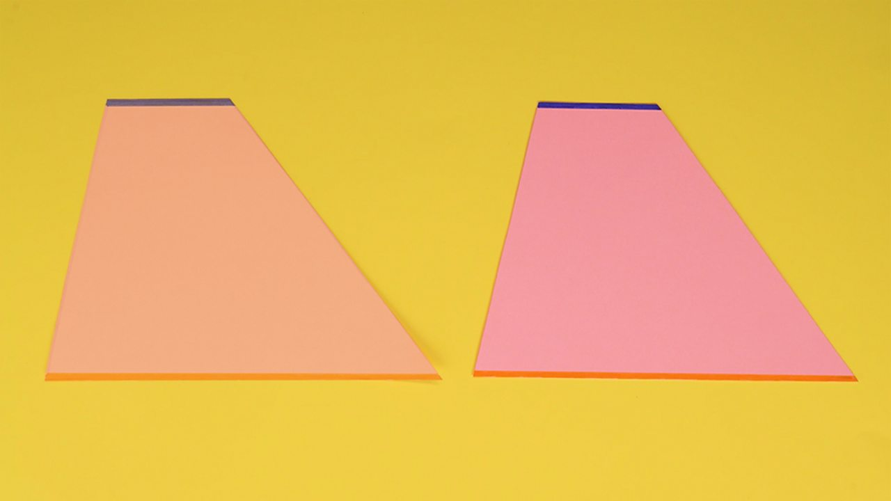 An image showing two identical trapeziums