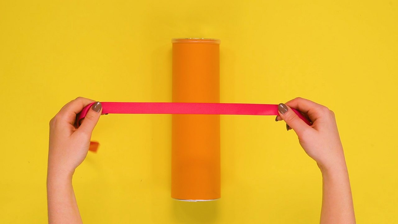 A ribbon over a cylinder