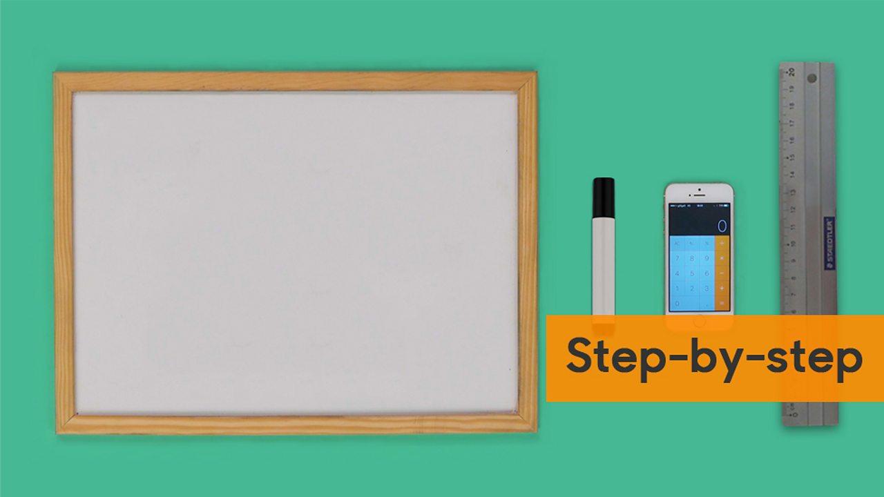 Whiteboard pen ruler and a calculator