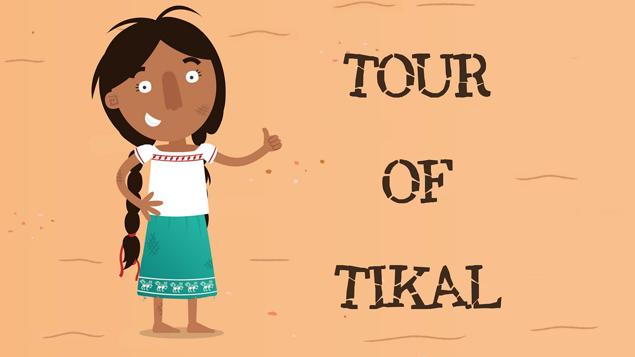 Jade Skirt inviting you to take a tour of the Ancient city of Tikal.