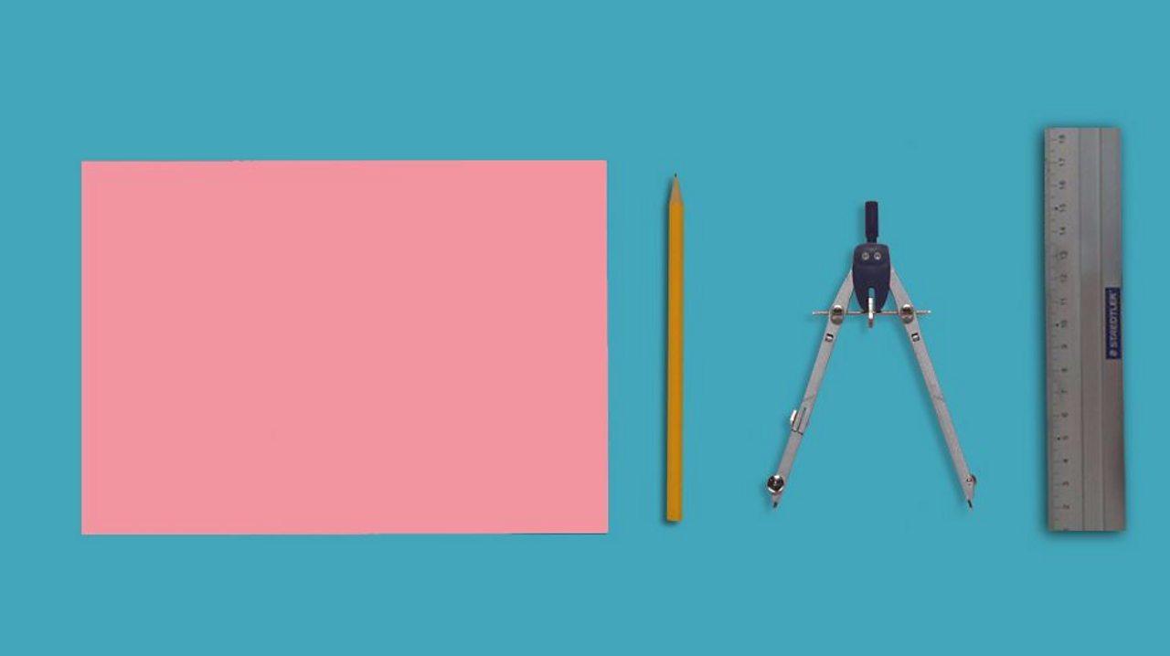 Paper, a pencil, a compass and a ruler