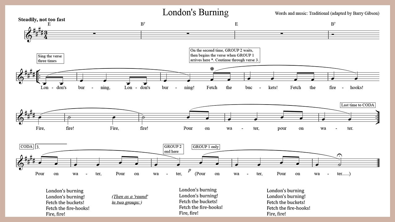 Music - London's burning!