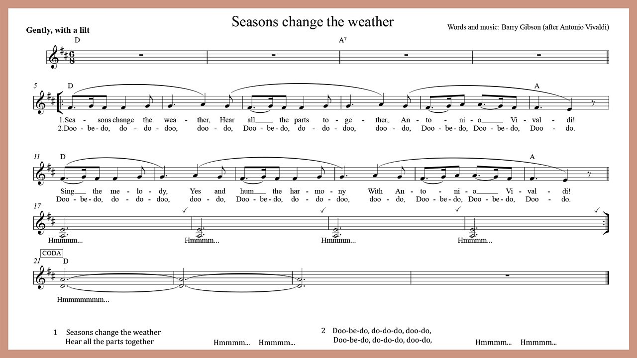 Music - Seasons change the weather