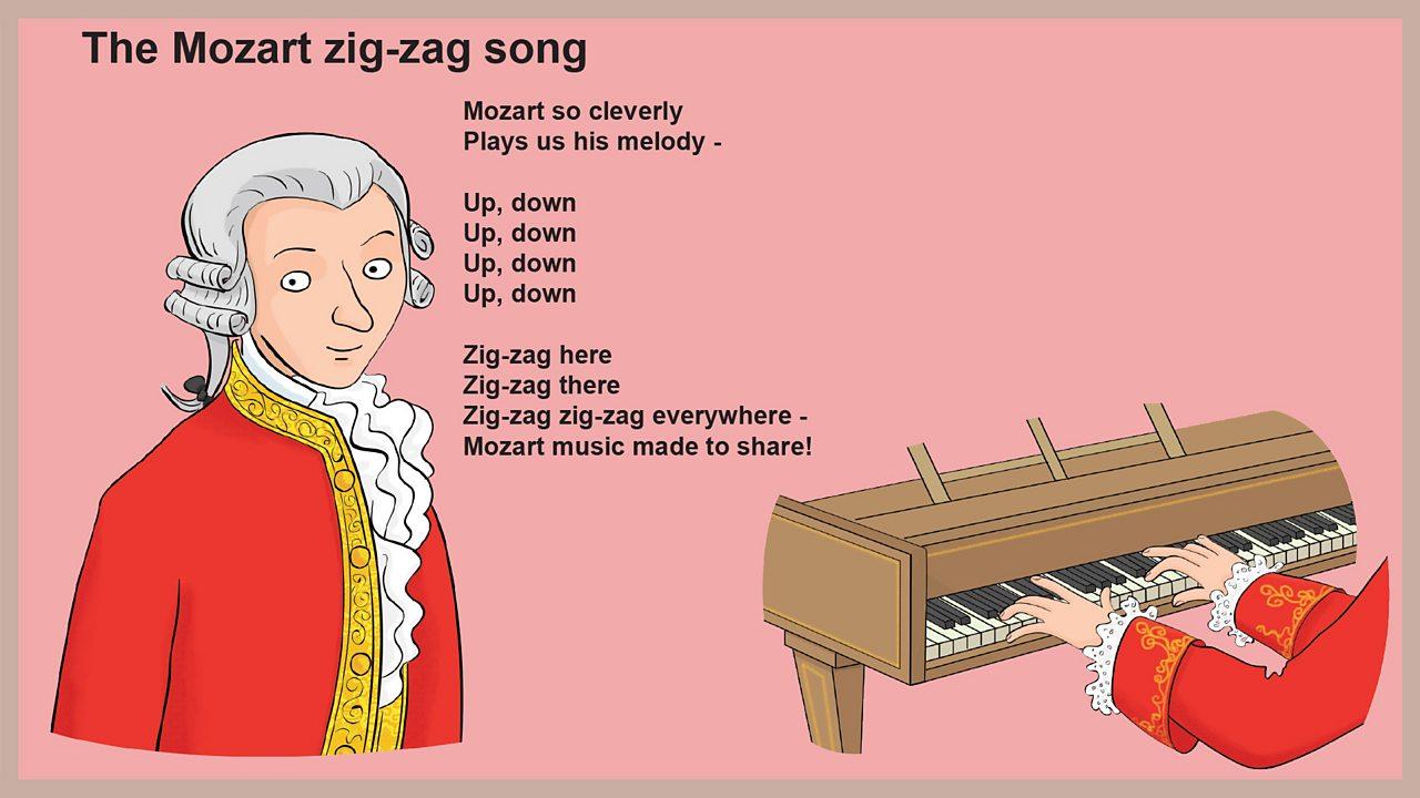 Lyrics - The Mozart zig-zag song