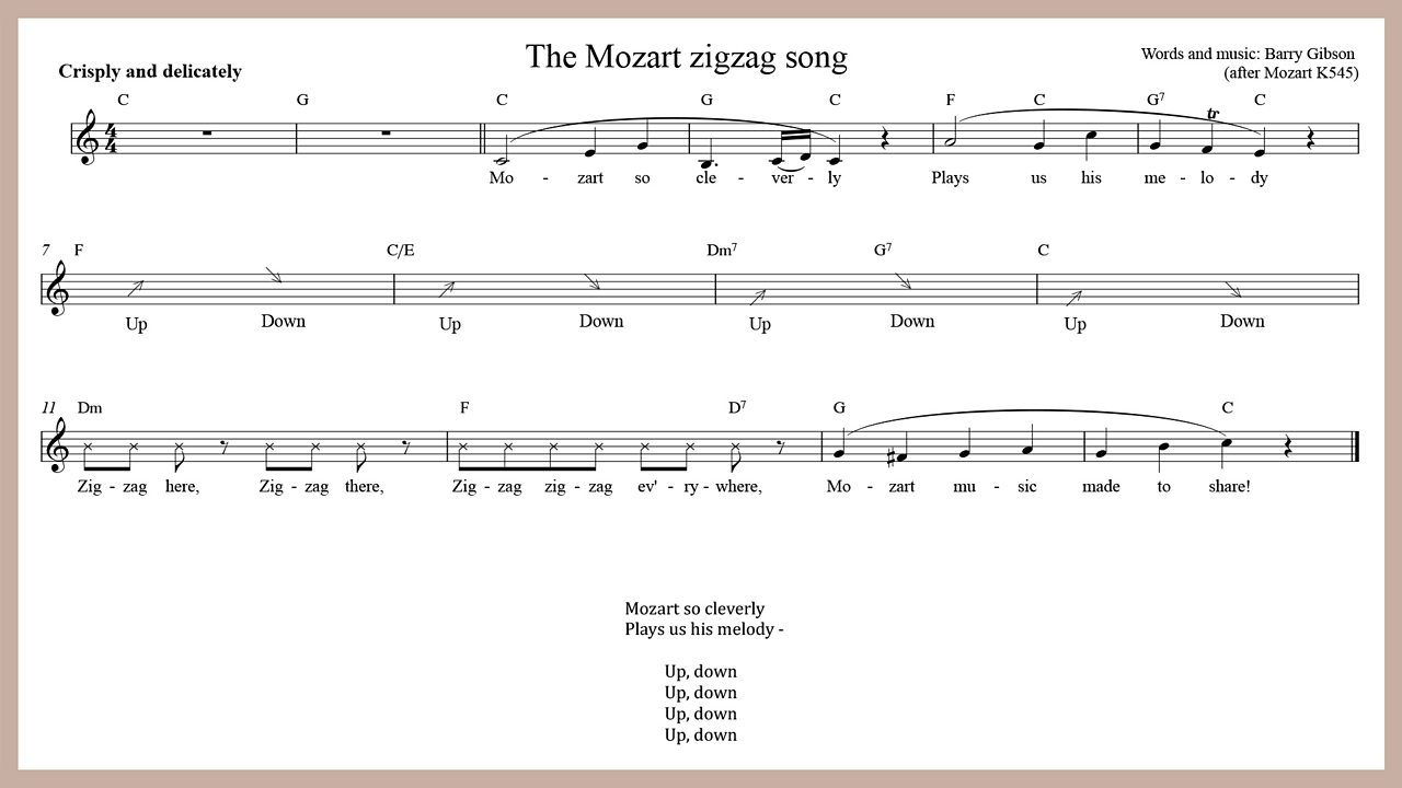 Music - The Mozart zig-zag song