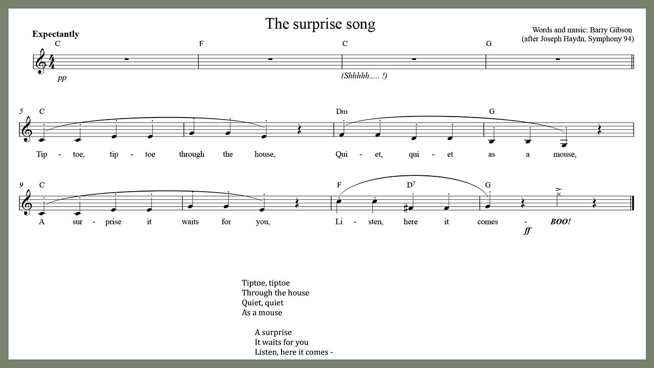 Music - The surprise song