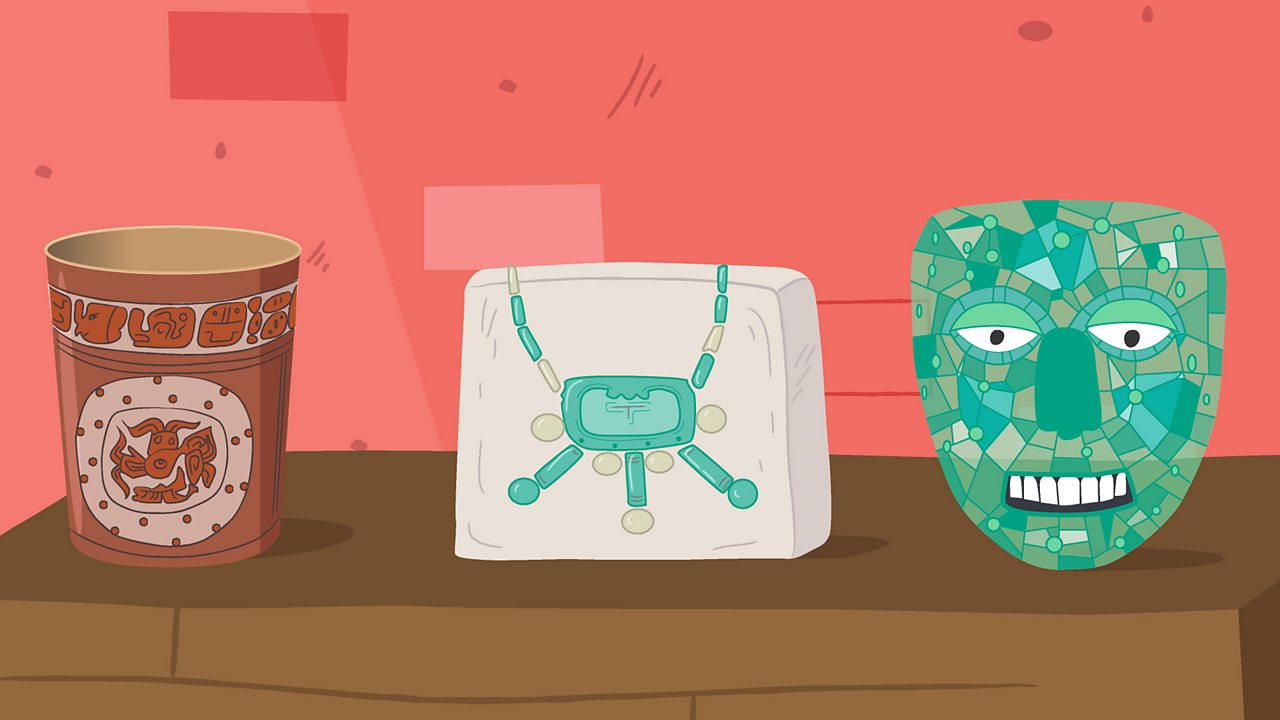 Three items from the Maya era