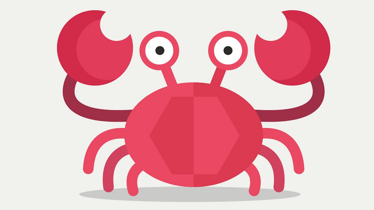 An illustrated crab.