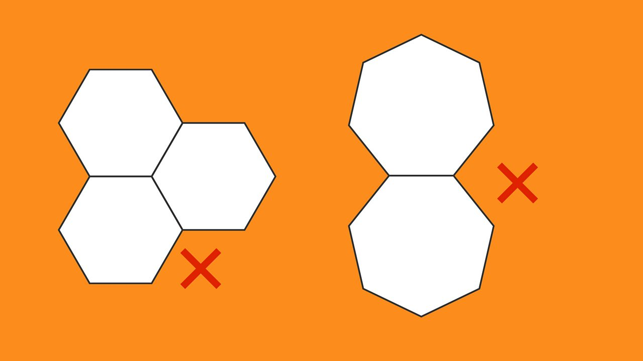 3 hexagons joined together and 2 heptagons joined together