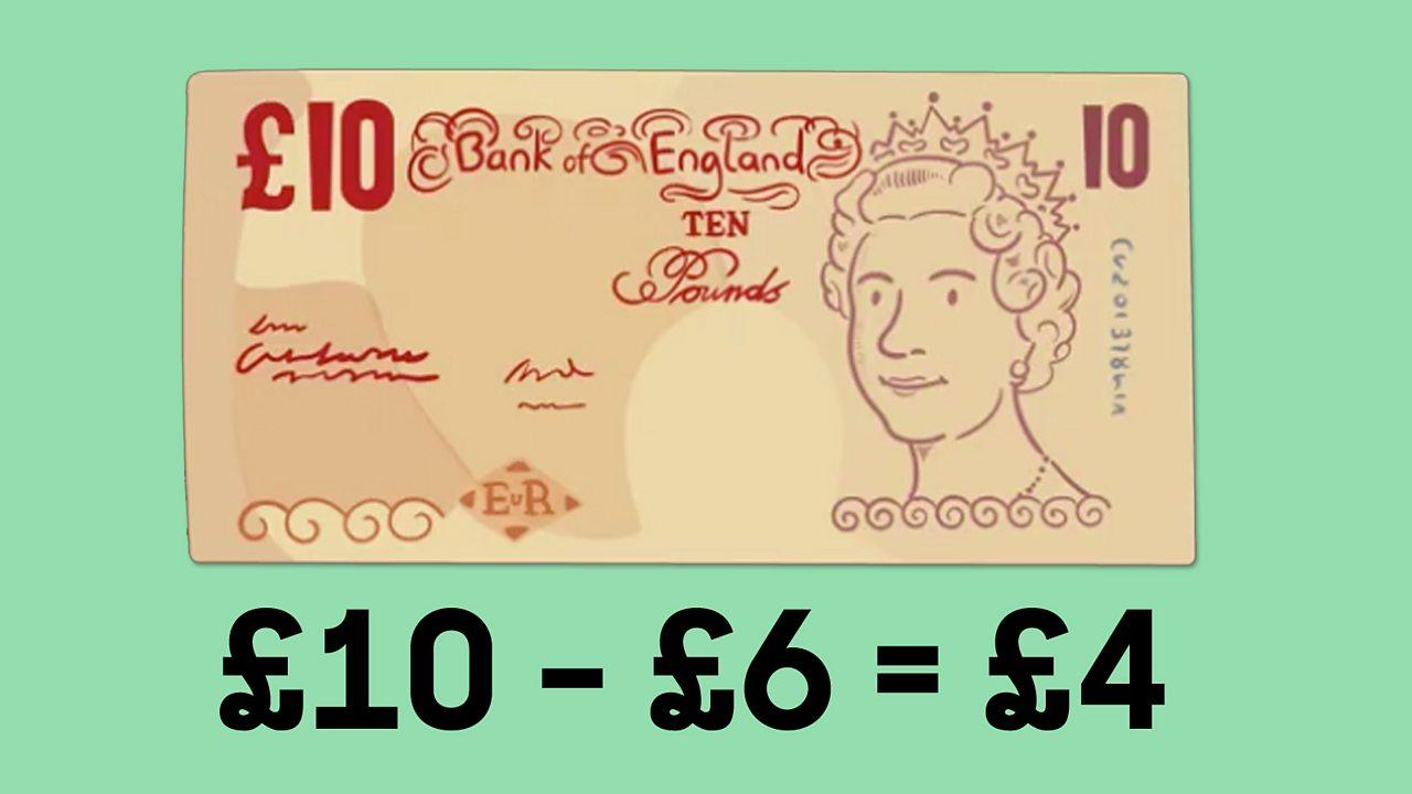 ten pounds minus six equals four
