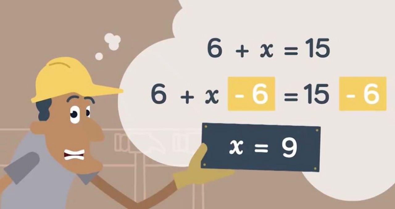 6 + x = 15