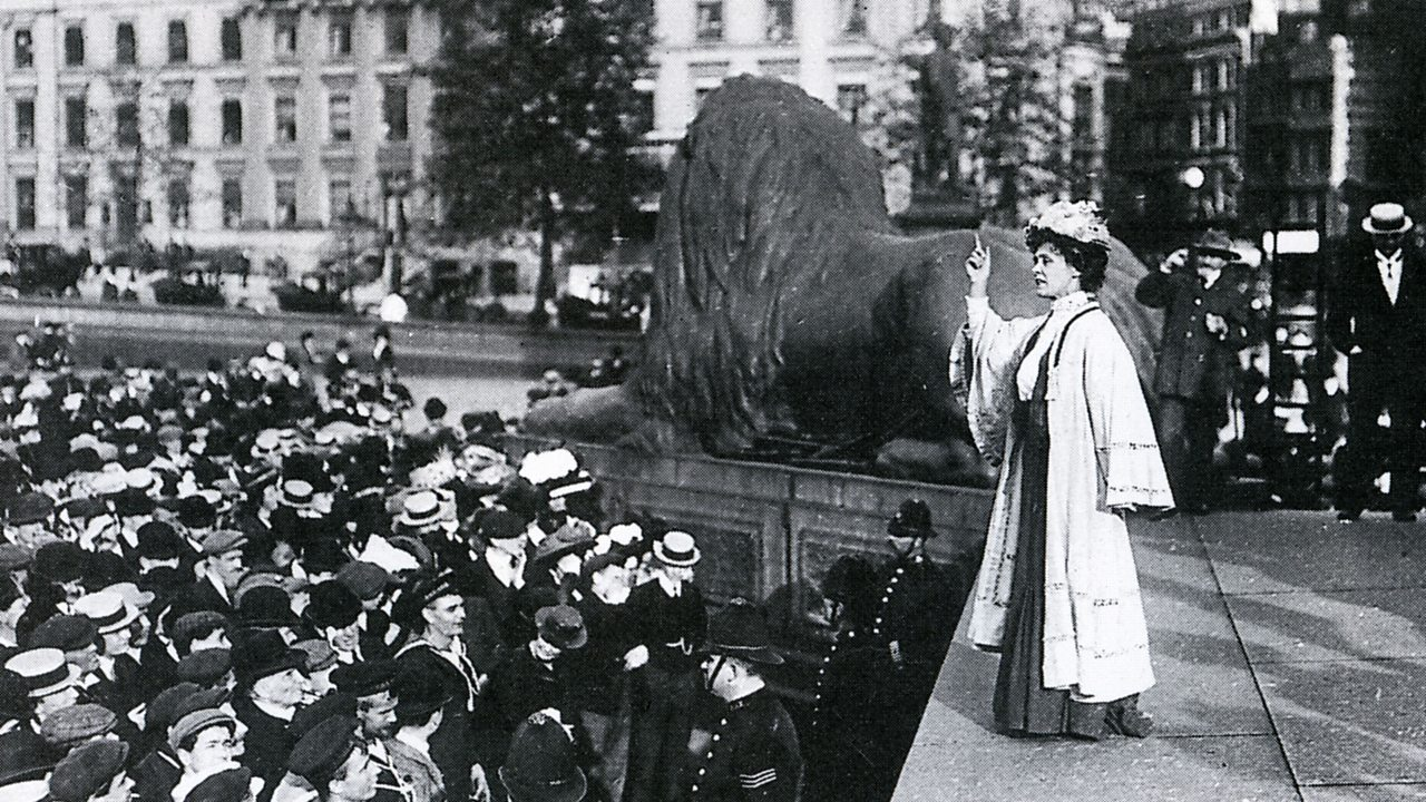 Enneline Pankhurst's speech in Trafalgar Square