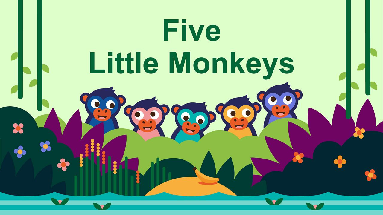 Five little monkeys swinging from a tree