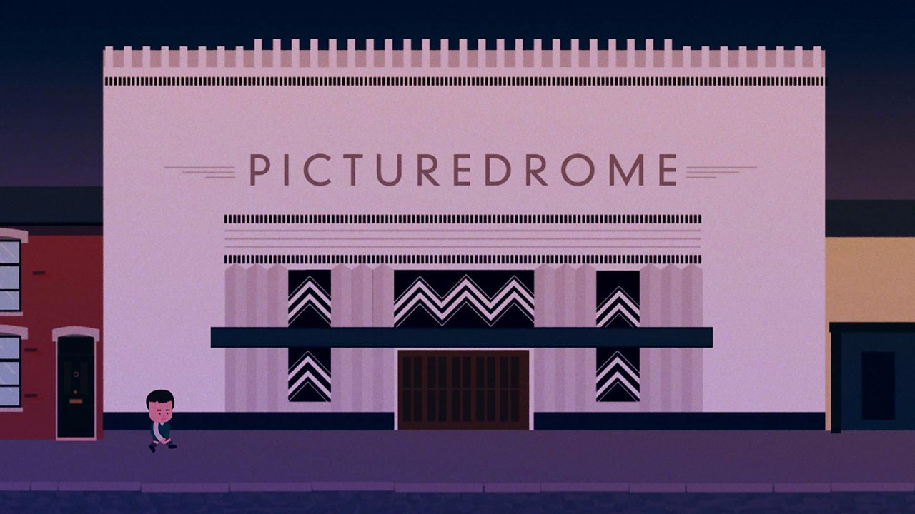 Animated shot of the cinema complex building in Belfast