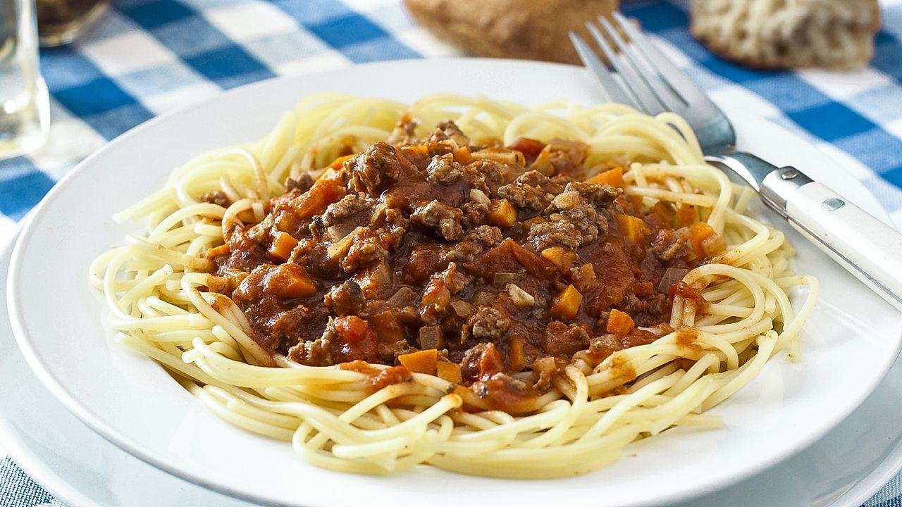 Microwave spaghetti Bolognese