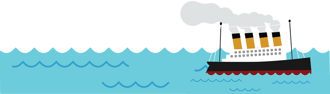Animated image of a boat out at sea