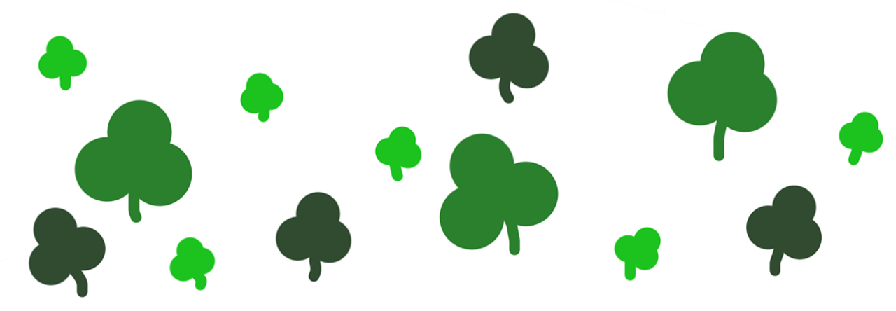 Animated image of a four leaf clover