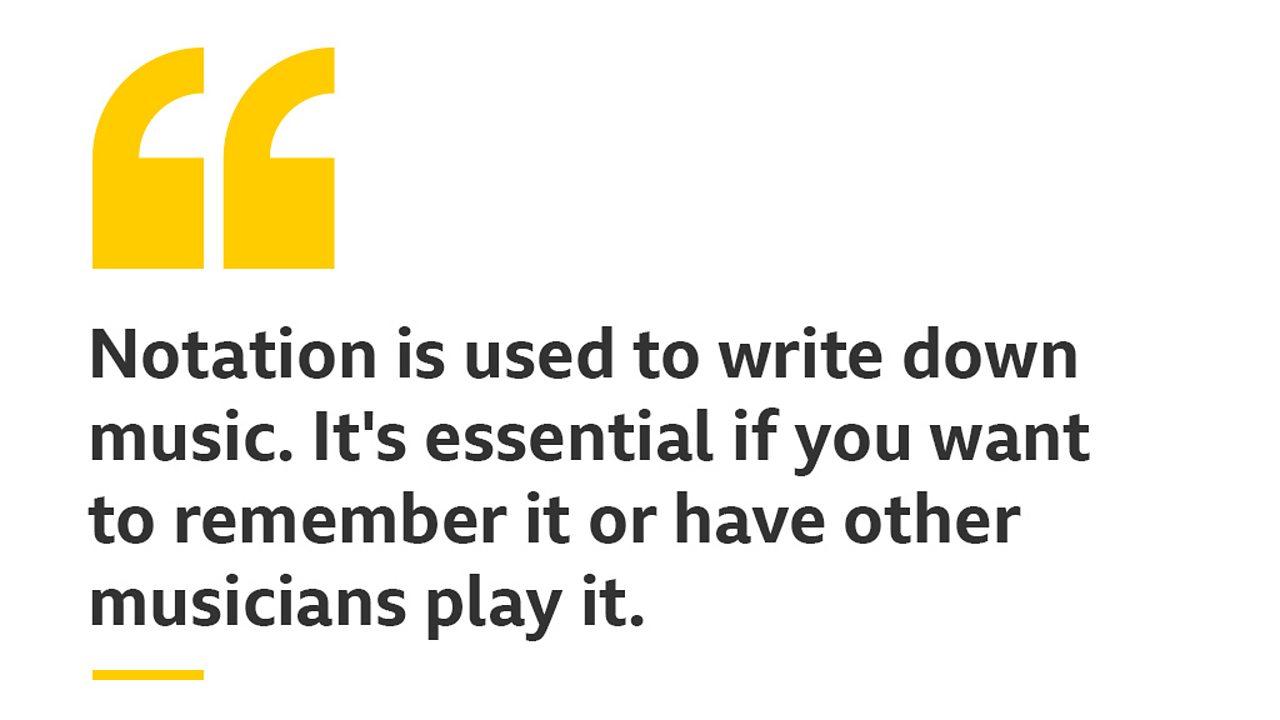 bbc bitesize what is notation