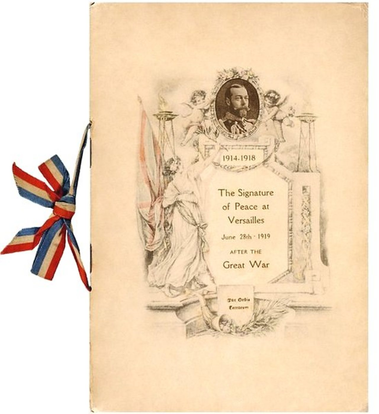 Original booklet from the signing of the Treaty of Versailles