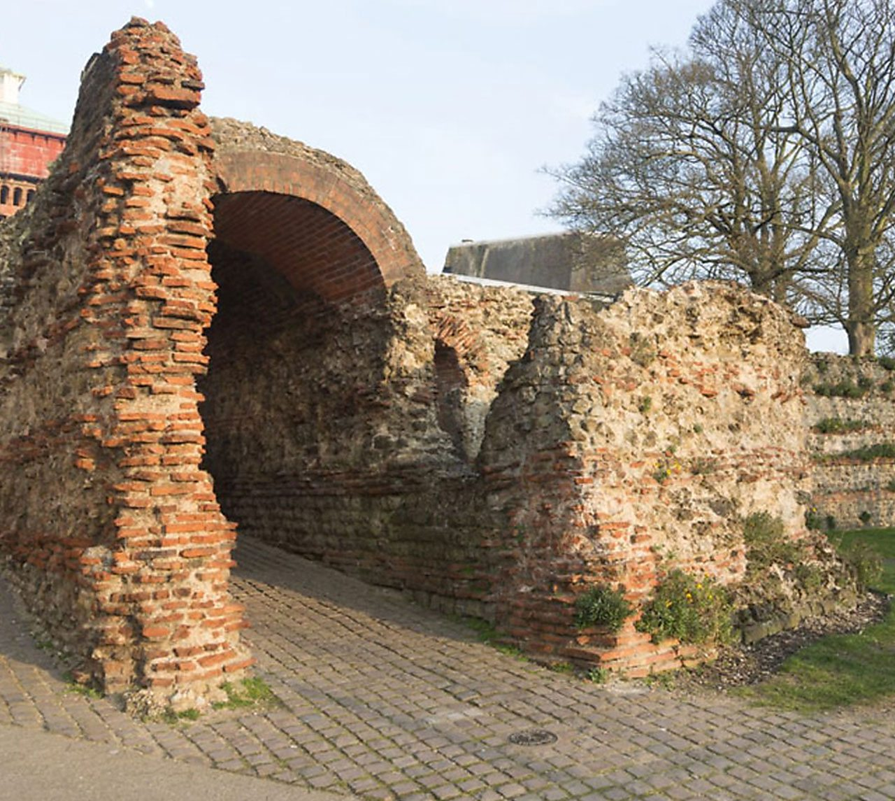 A Roman archway in Colchester.