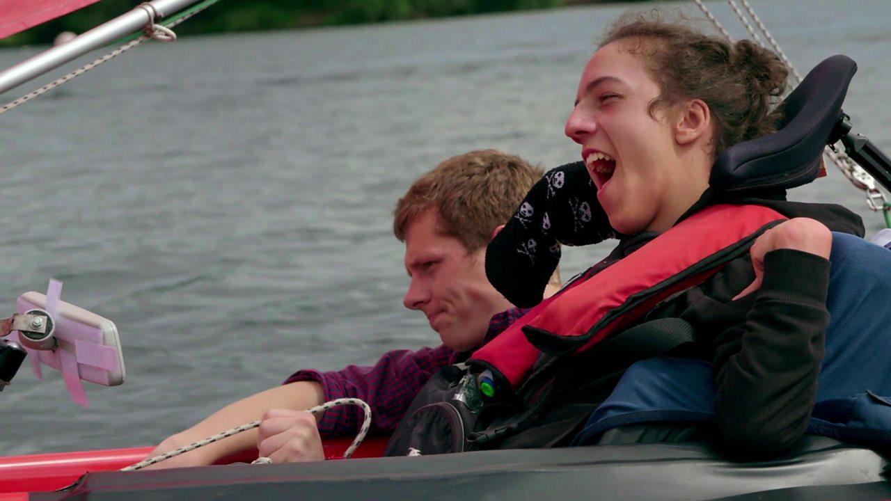 Helping Ian to sail