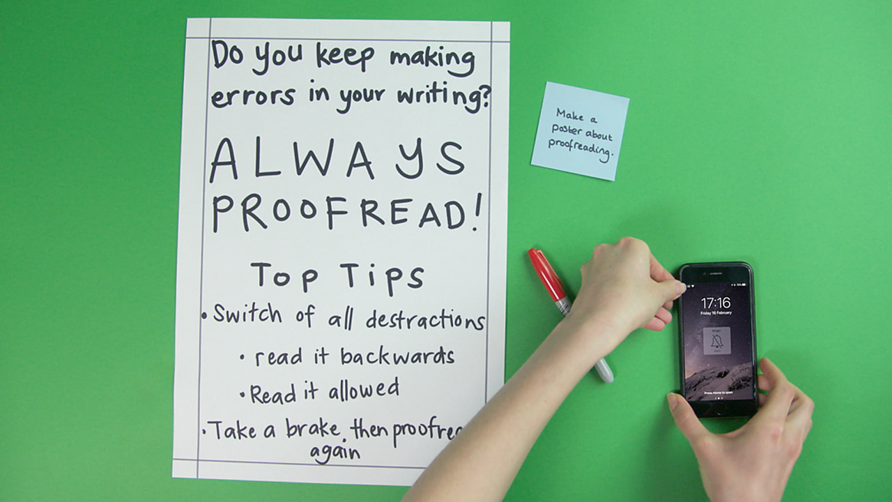 ways to proofread your own work
