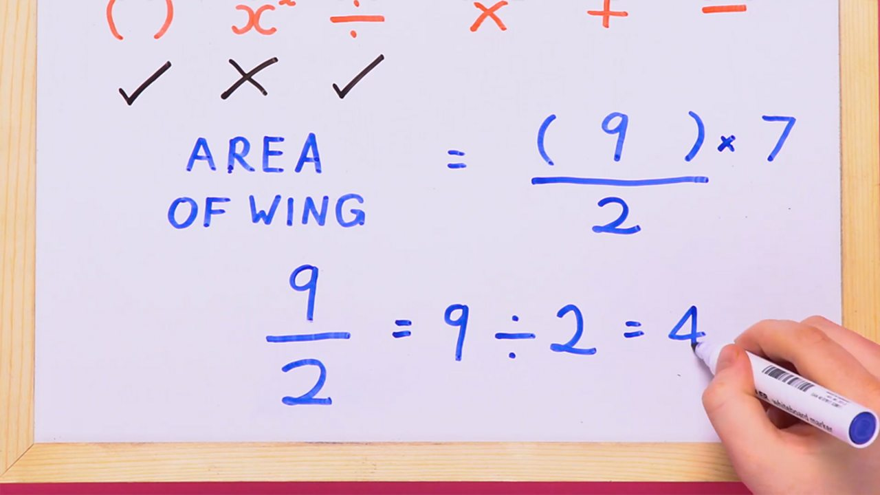 Using the order of operations, BIDMAS, to perform the division step next. 9/2 = 9 ÷ 2 = 4.5 so the remaining sum is 4.5 × 7
