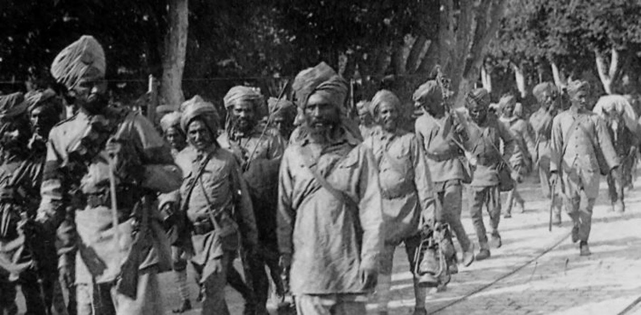 What was the contribution of Indian Sikhs in World War One?