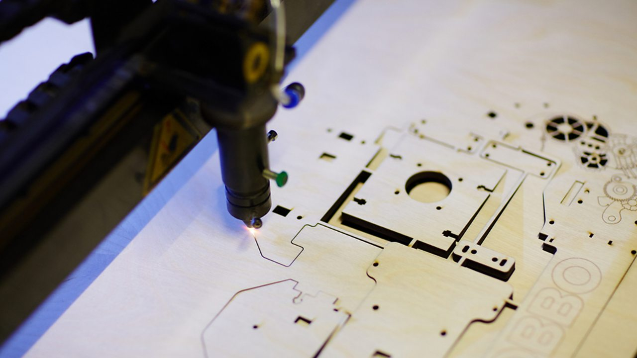 An example of computer aided manufacture (CAM) - a laser cutter