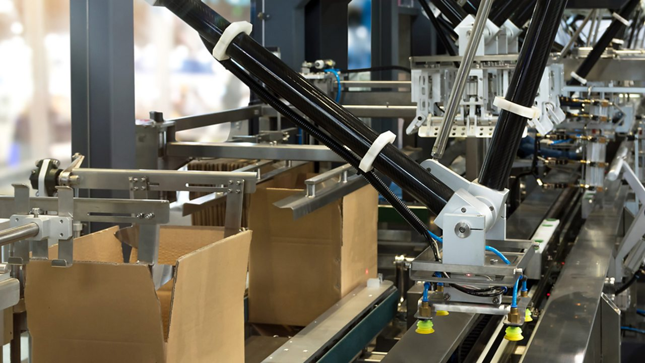 An automated production line.