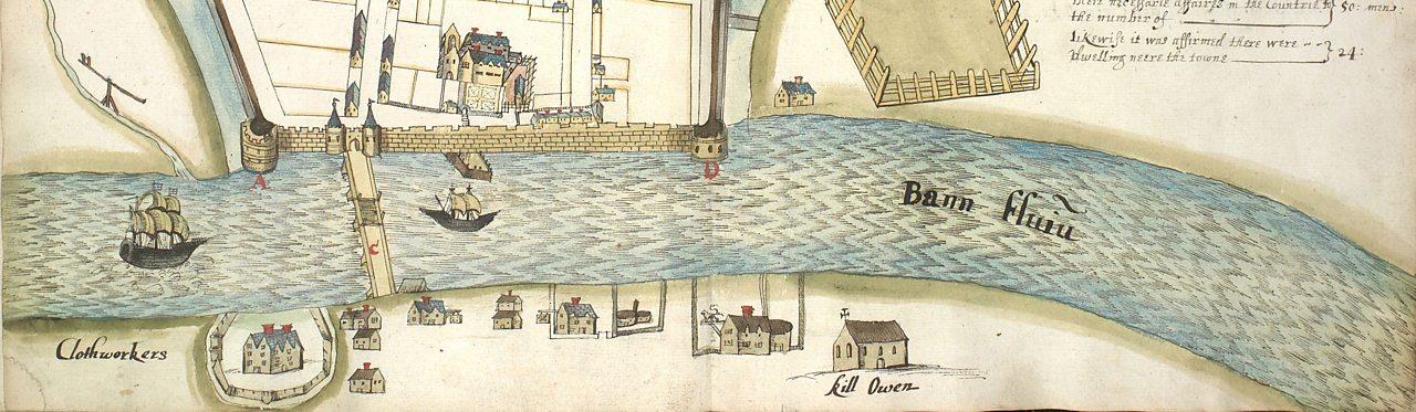 Plantation era river illustration