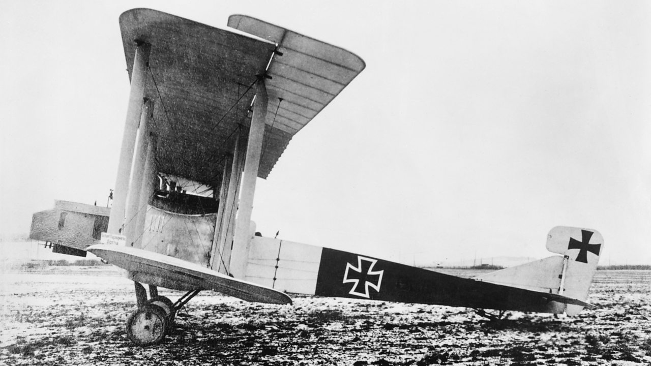 A German Gotha bomber plane in World War One