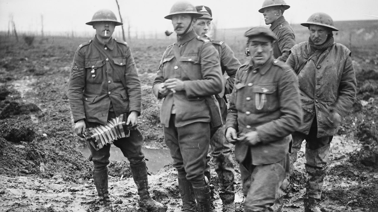 British soldiers of the Royal Field Artillery in France in World War One