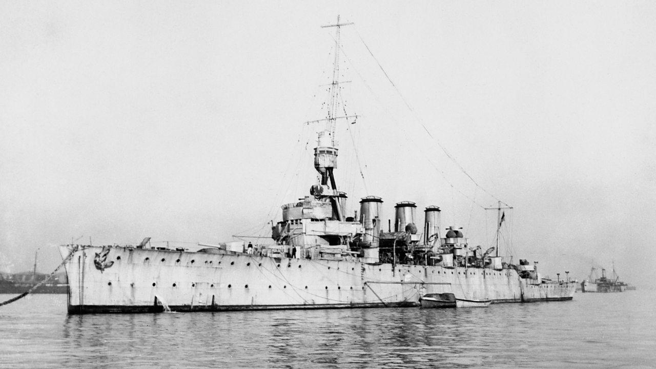 a photograph of world war one battleship hms centurion at sea