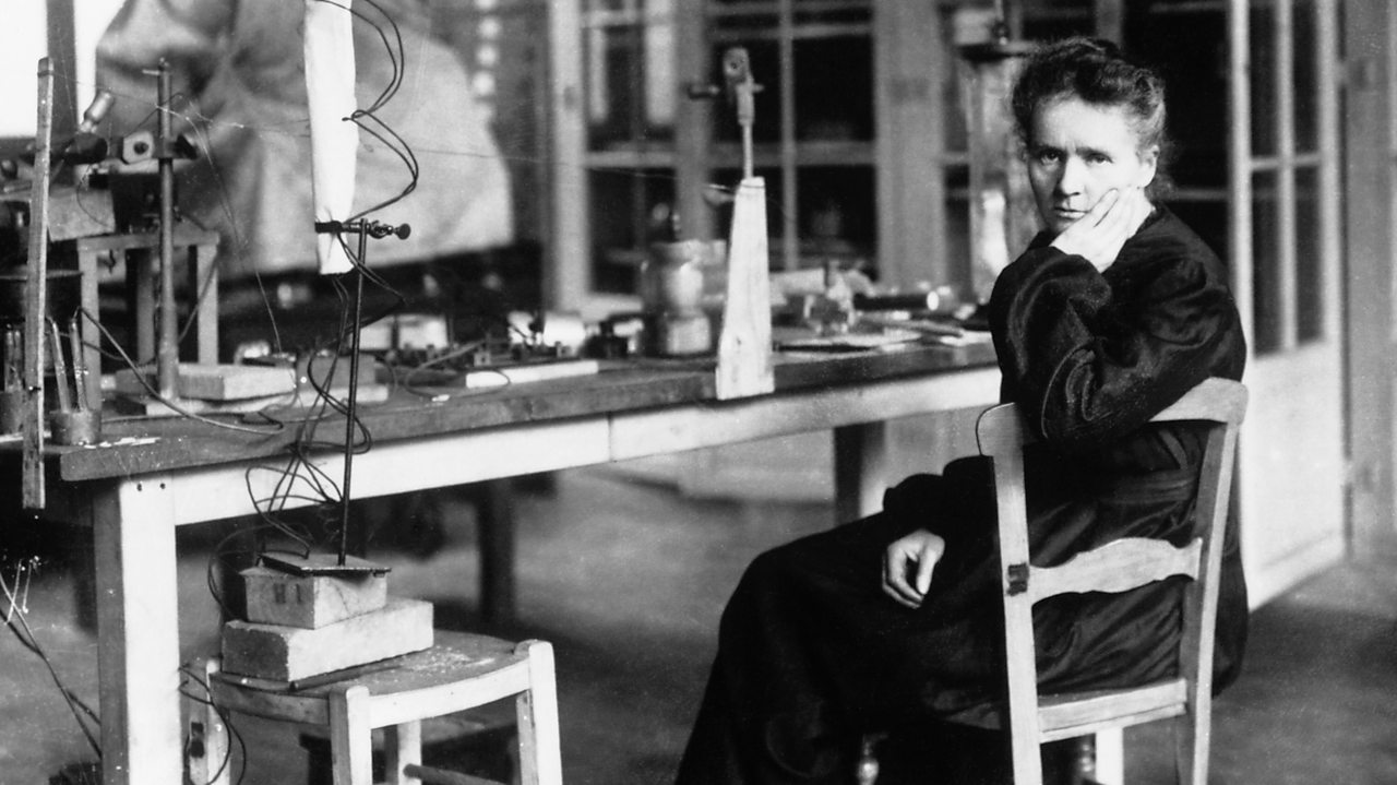 Marie Curie in her laboratory in 1912