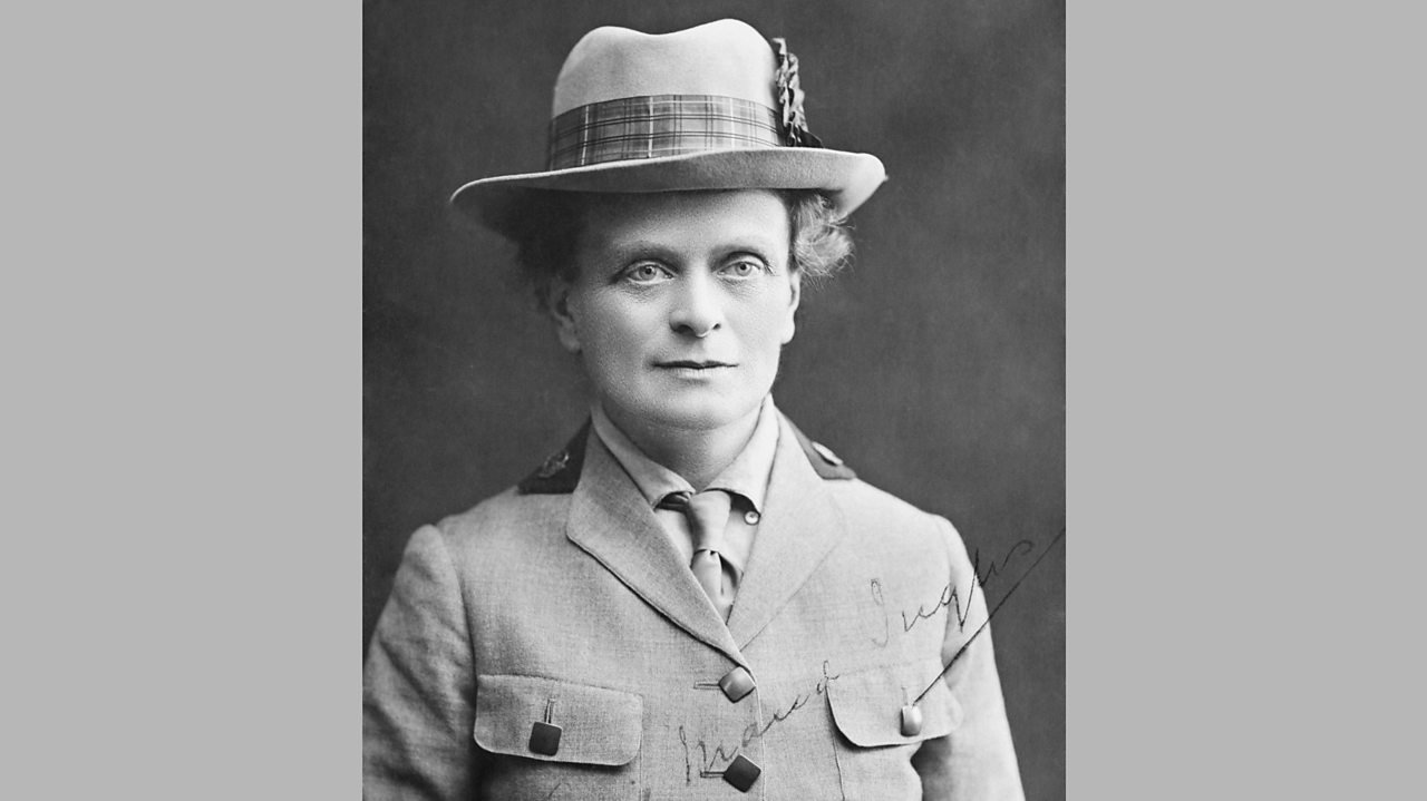 A black and white photograph of British World War One doctor Elsie Inglis