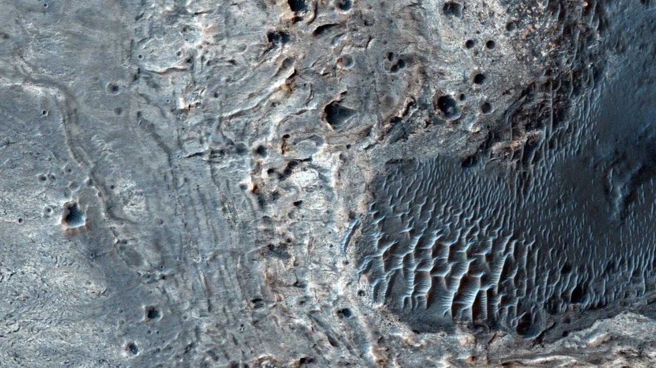 Meridium Planum, on the surface of Mars.