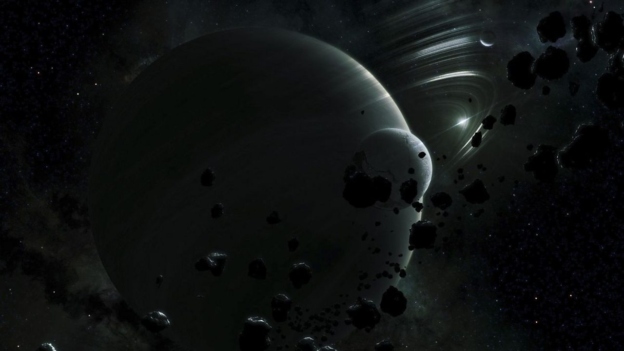 An artist's impression of Tythe, in the Oort cloud.