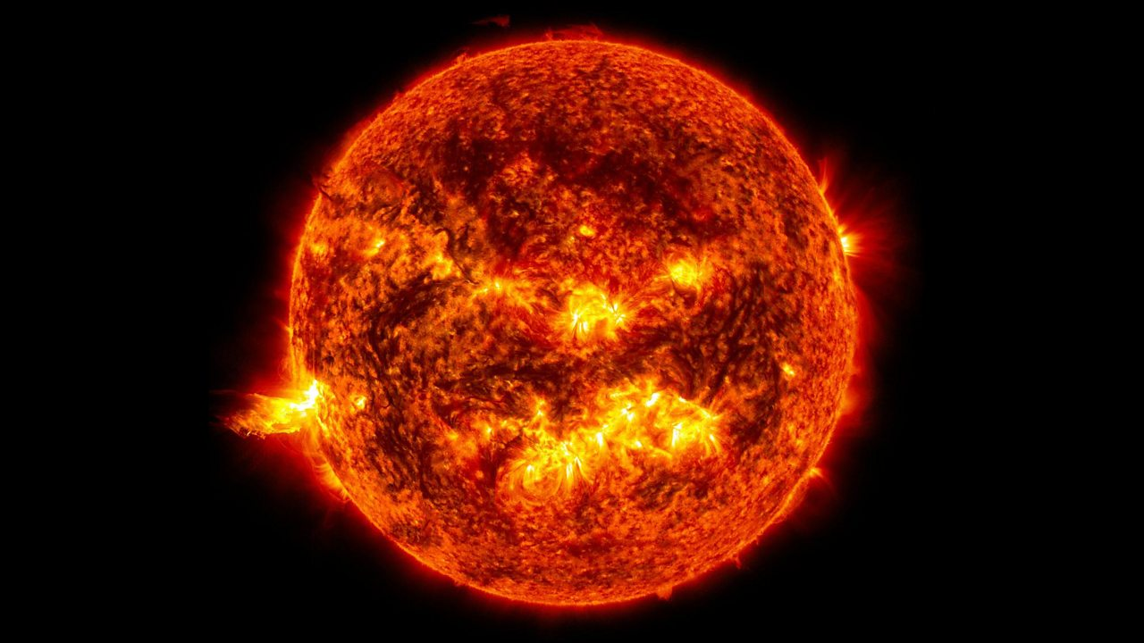 A photo of the sun