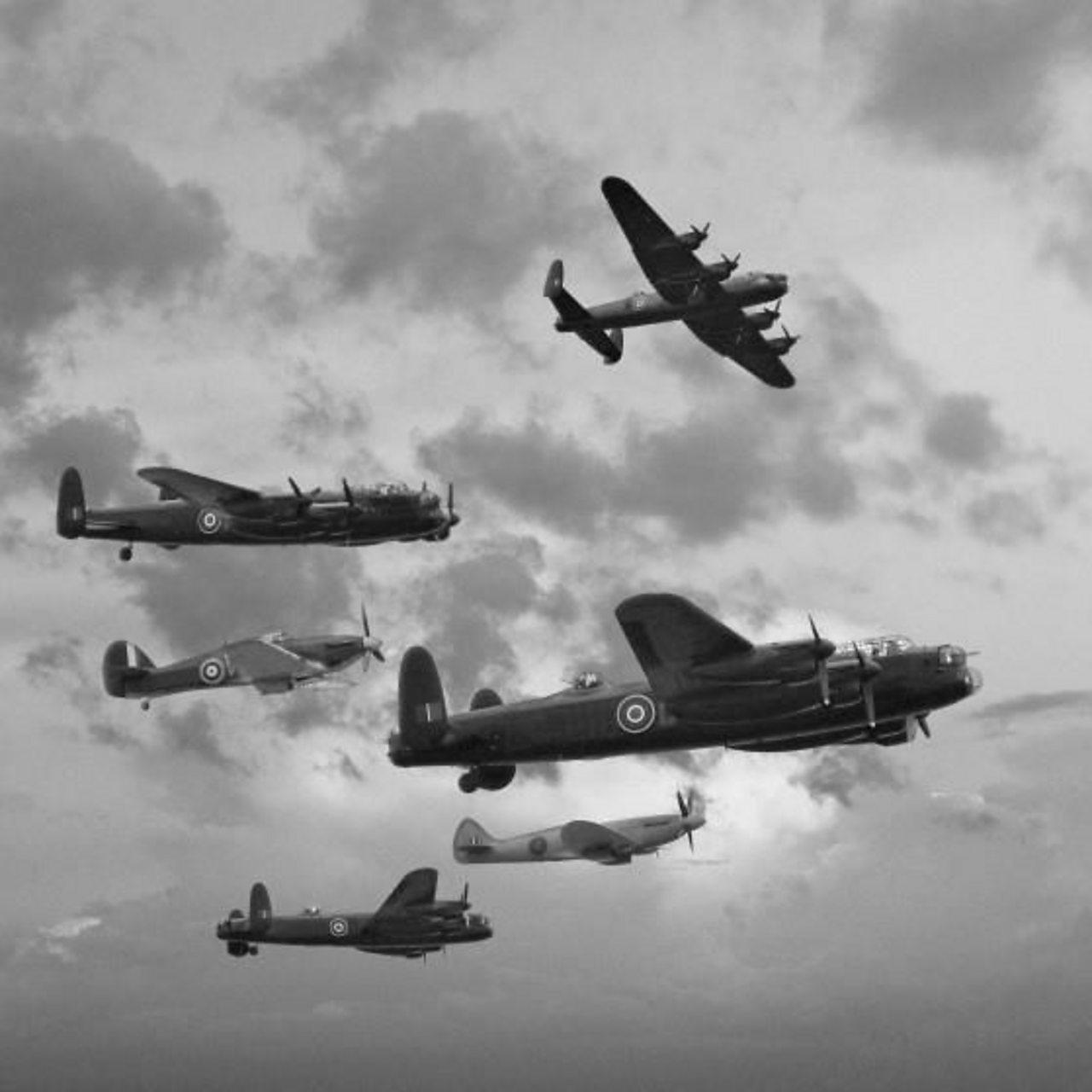 World War Two aircraft in flight.