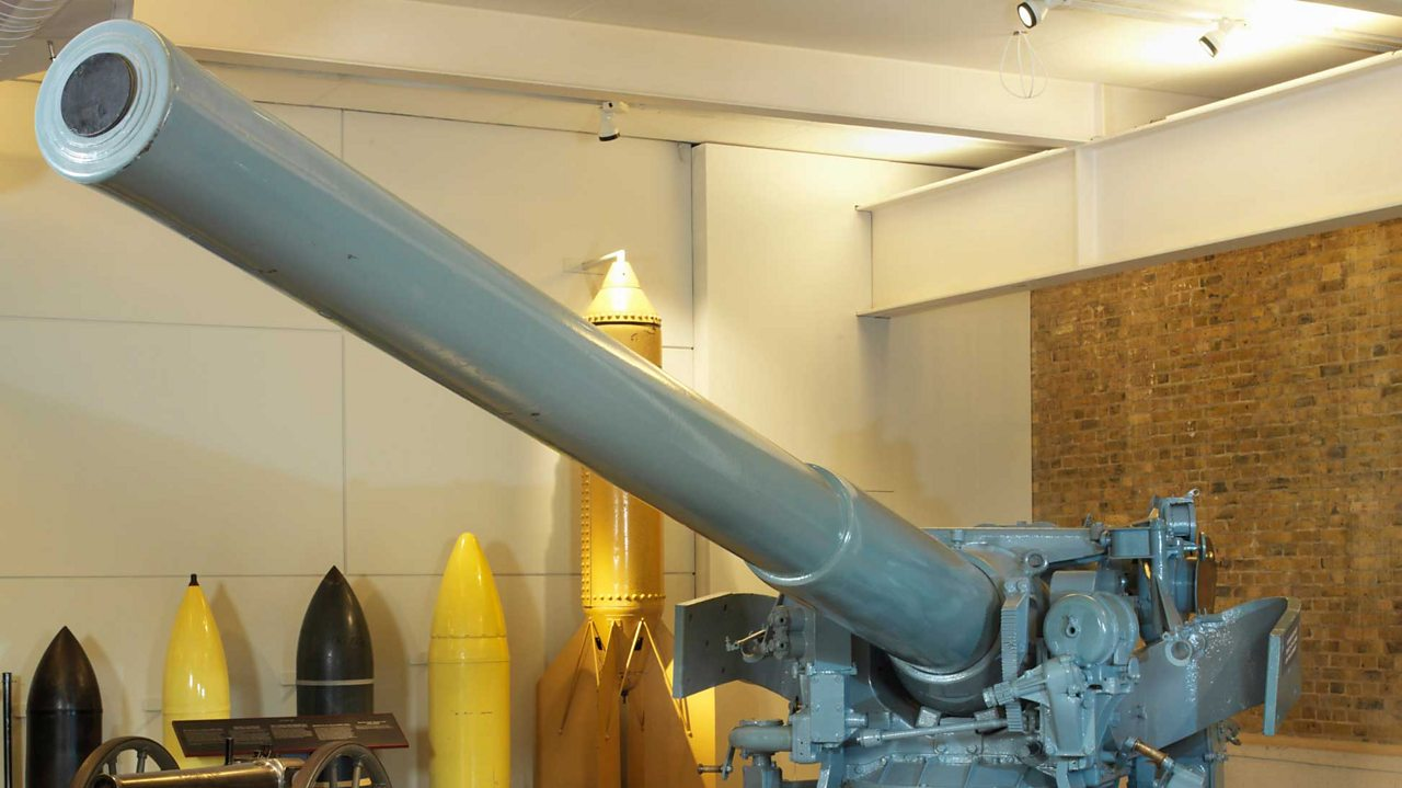 A Gun that was manned by Jack Cornwell in the Battle of Jutland