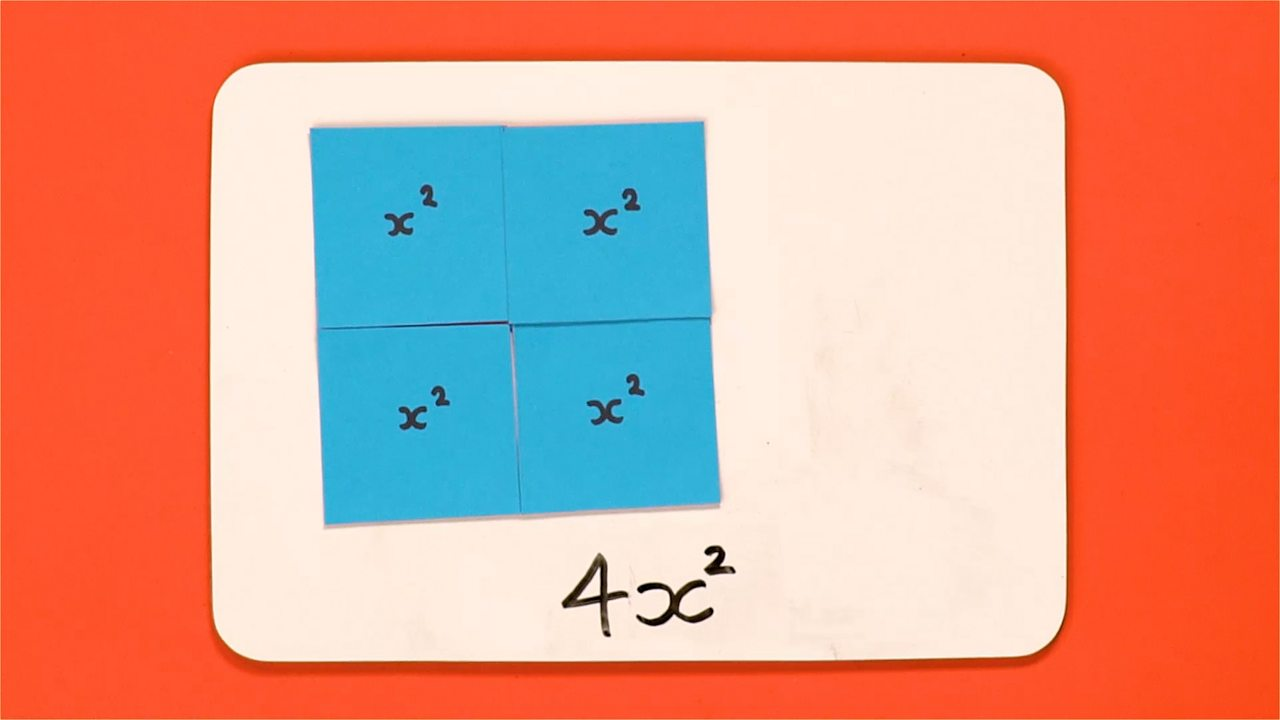 When multiplying x by itself (called squaring), we use the squared symbol (a small 2 in the right hand corner).