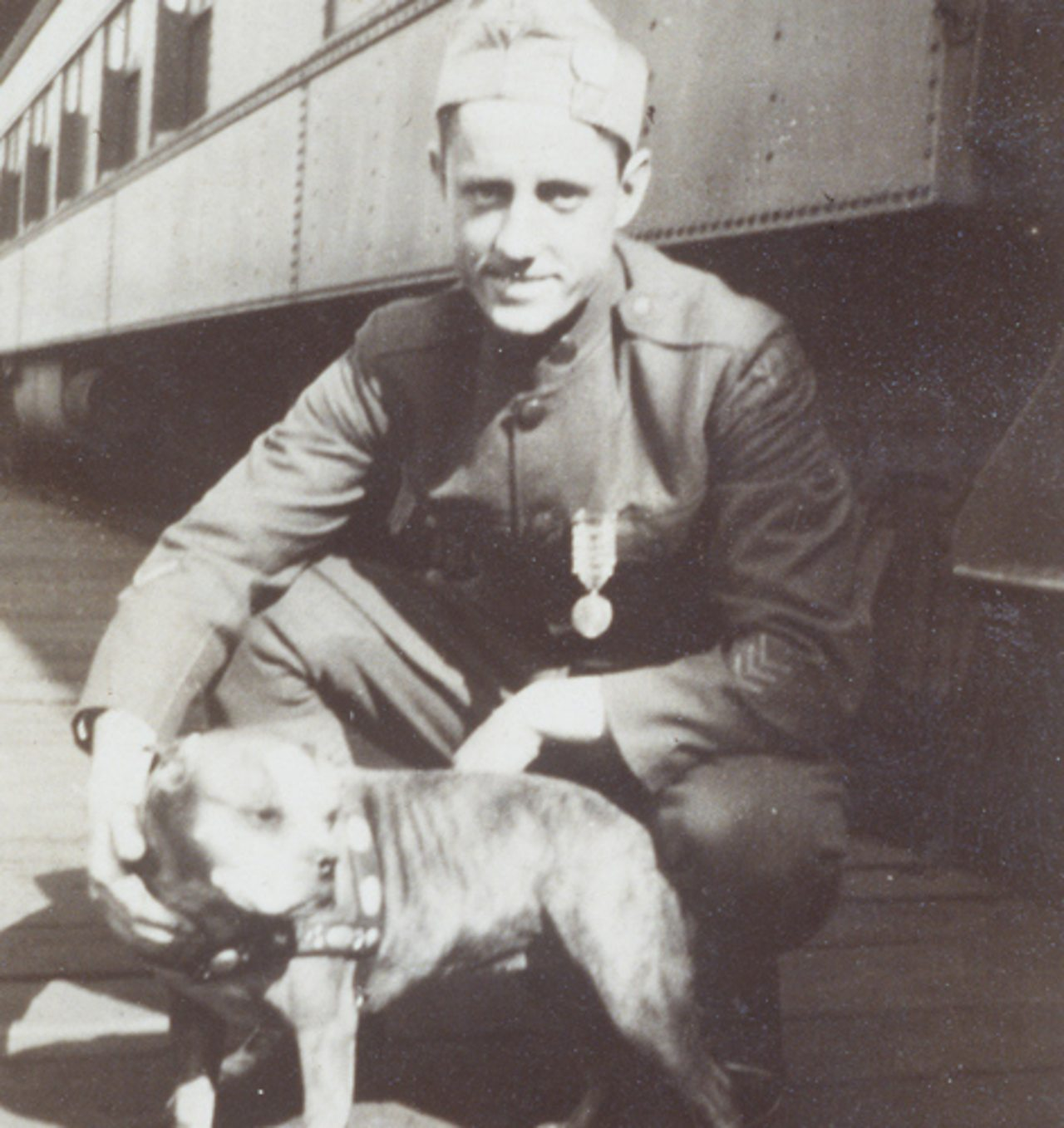Sergeant Stubby with Corporal Robert Conroy