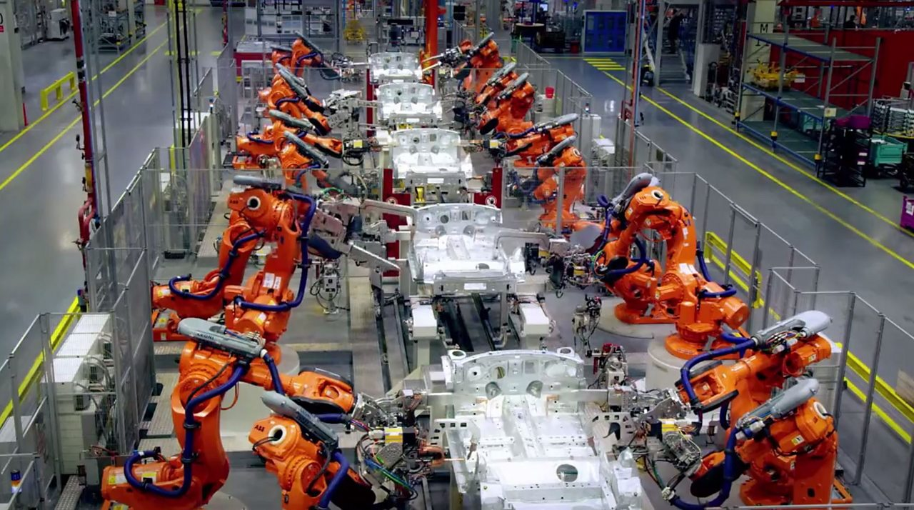 Robots and automation in car manufacture