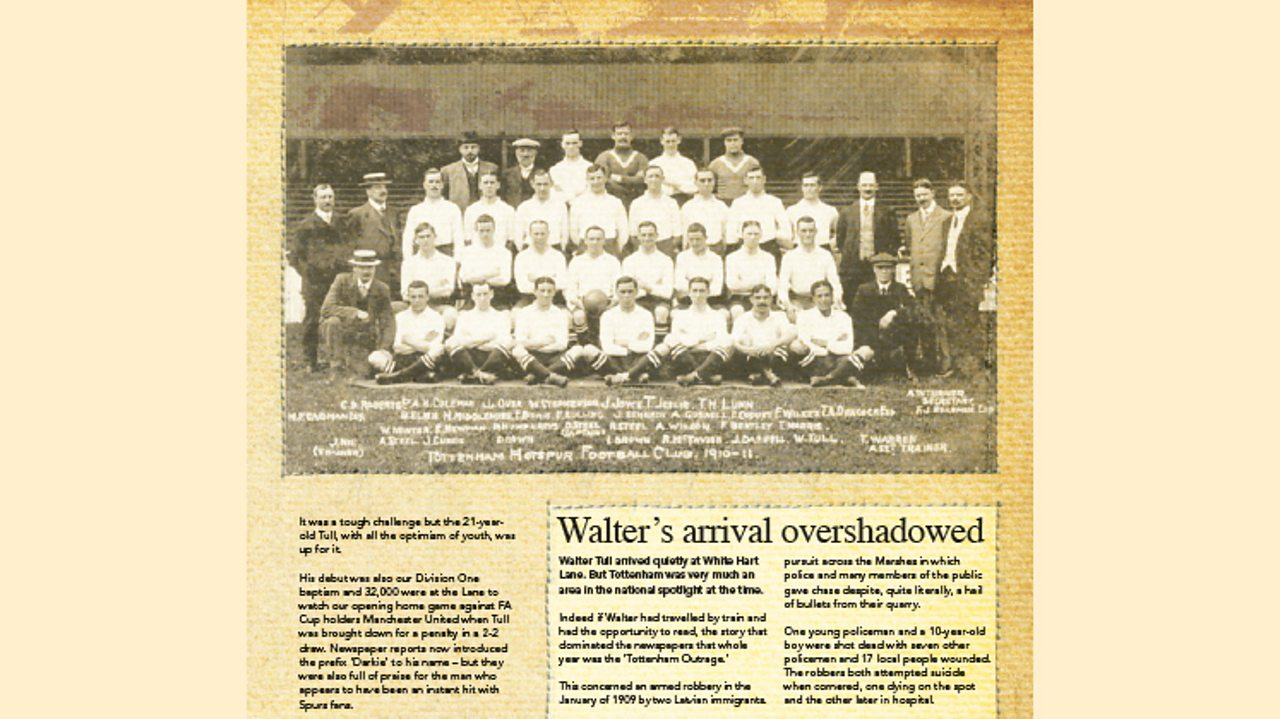 Walter Tull featured in 'Hotspur' a Tottenham Hotspur magazine