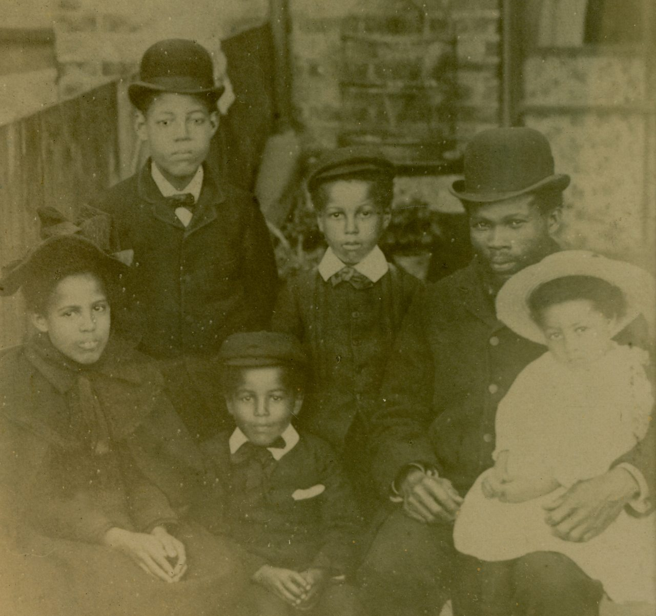 Walter Tull as a child pictured with his family